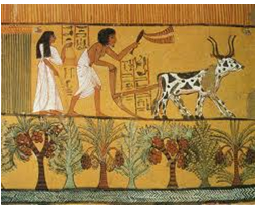 History of egypt ancient egypt facts for kids for Egyptian mural art