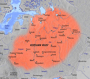 Map Of Russia For Kids.Kievan Rus The Middle Ages Facts For Kids