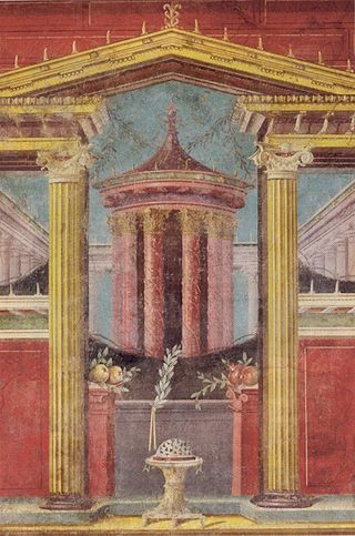 Roman fresco from Museum Art