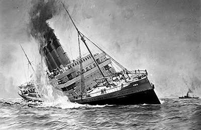 History of Sinking of the Lusitania
