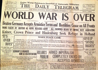 History of World War 1 Ends