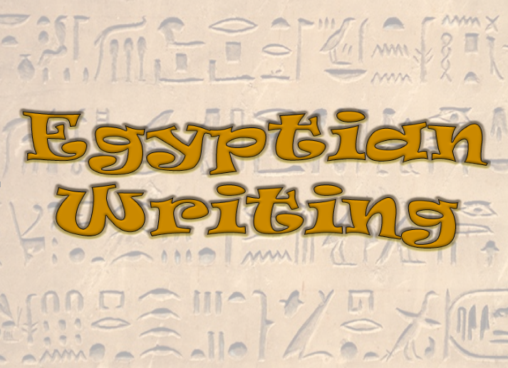 History of Egyptian Writing